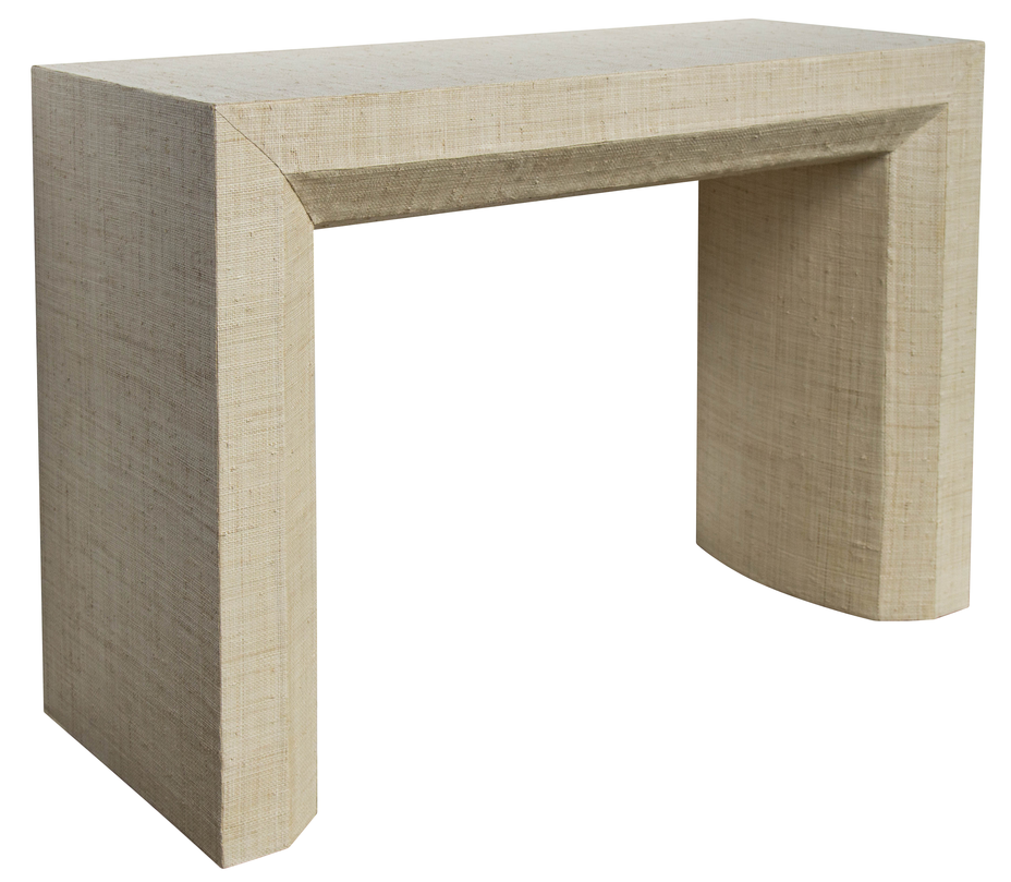 Avery Grasscloth Console Table Natural Society Social With