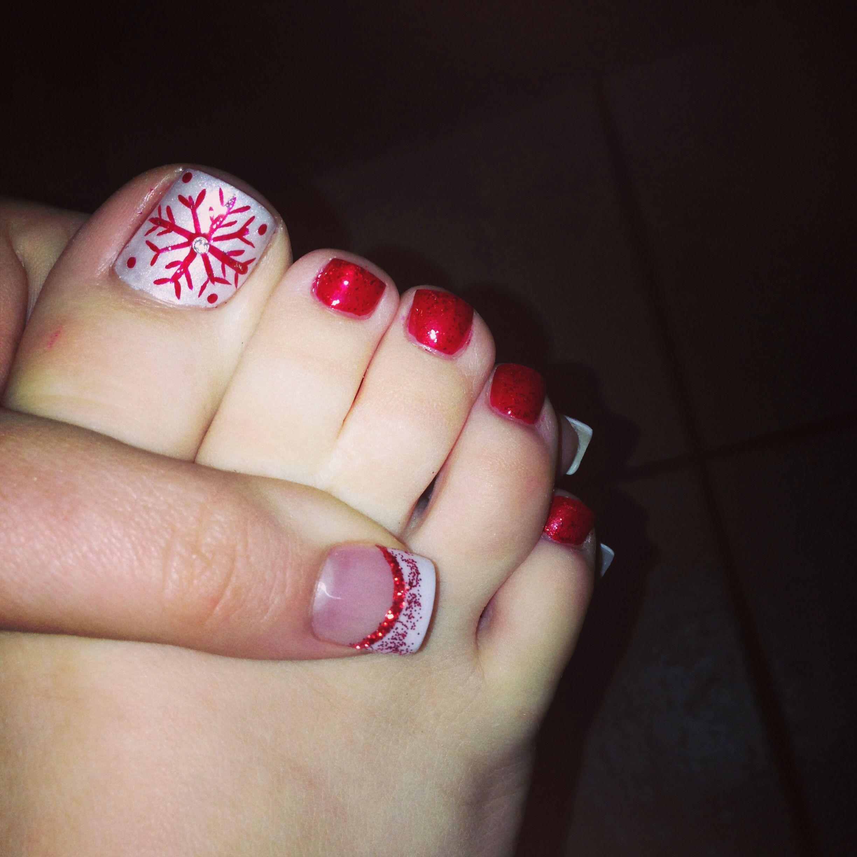 Christmas Pedicure Designs 31 Nails Pinterest