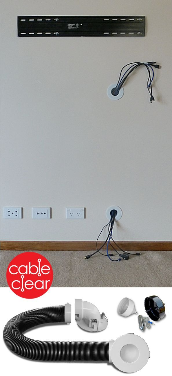 hide tv cables inside the wall quickly and easily tv mount rh pinterest com behind wall wiring for tv in wall wiring kit for tv