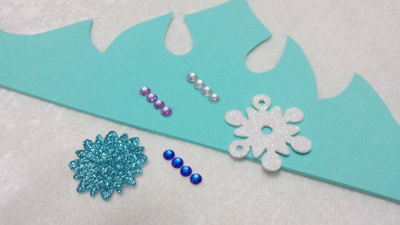 Party Pack Frozen Elsa Tiara Craft Kit Etsy Elsa Crafts Craft Kits Frozen Crafts