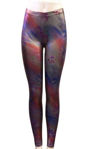 Sexy Ladies Flower Printed Stretchy Tights Leggings Pants by AMC. $9.99