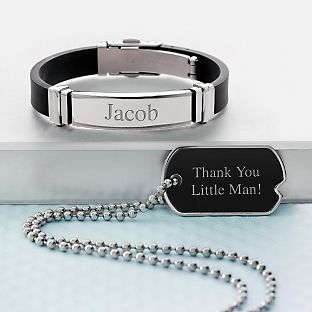 Personalized Boys Black Matte Gift Set With Free Keepsake Box Add