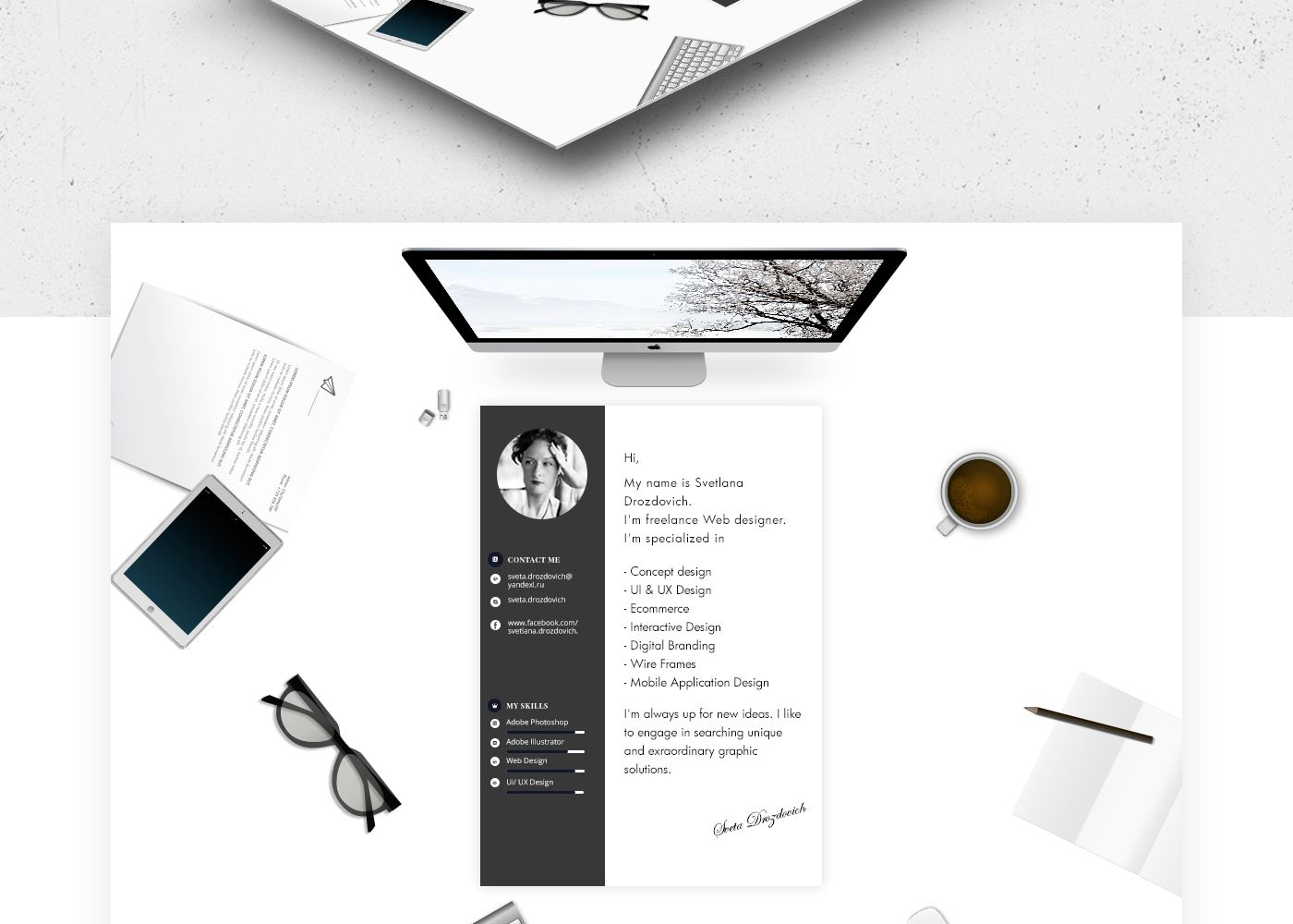 Portfolio web design & animation on Behance