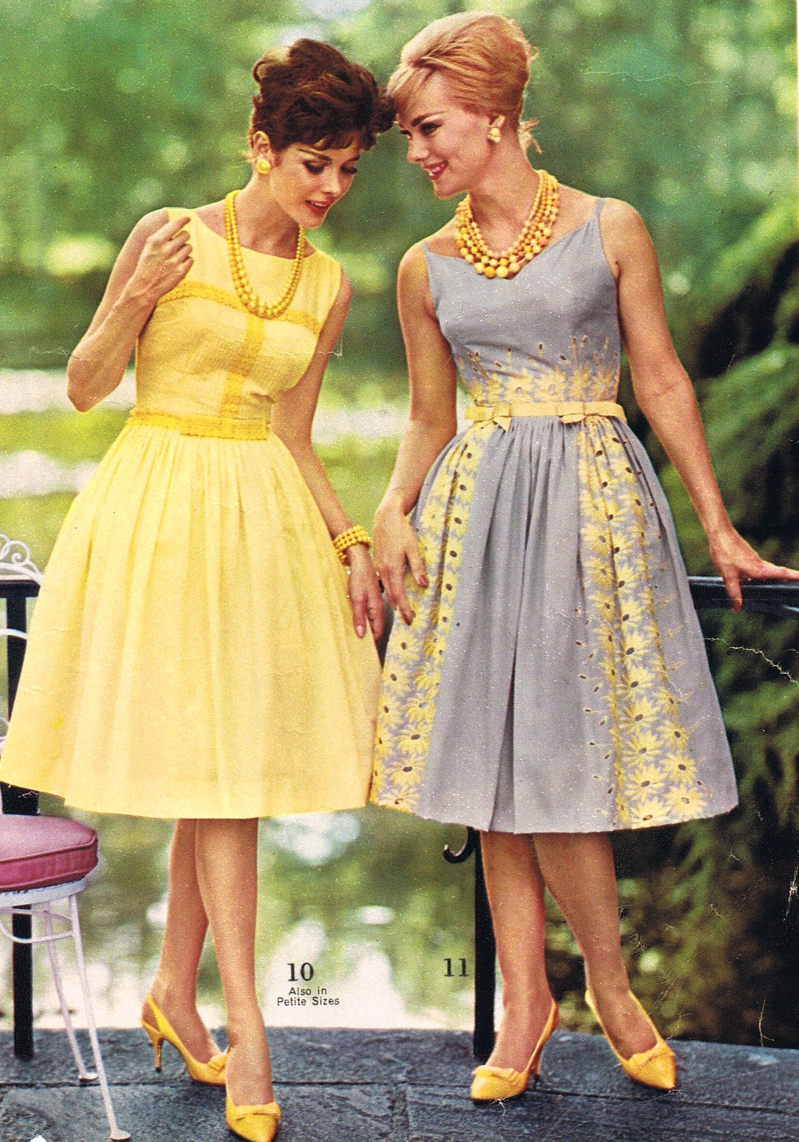 Mid Mod Party Dresses Spiegel 1962 1960s Fashion Vintage Dresses Fashion [ 2352 x 1645 Pixel ]