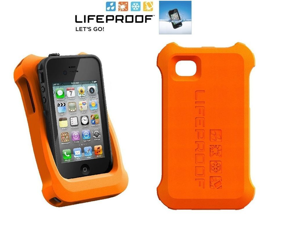 new products 0352b 812f4 LifeProof LifeJacket Float Cover Case for Apple iPhone 4 4S Orange ...