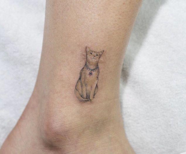 Cat Tattoo Animal Tattoos For Women Tattoos For Women Cat Animal Tattoo
