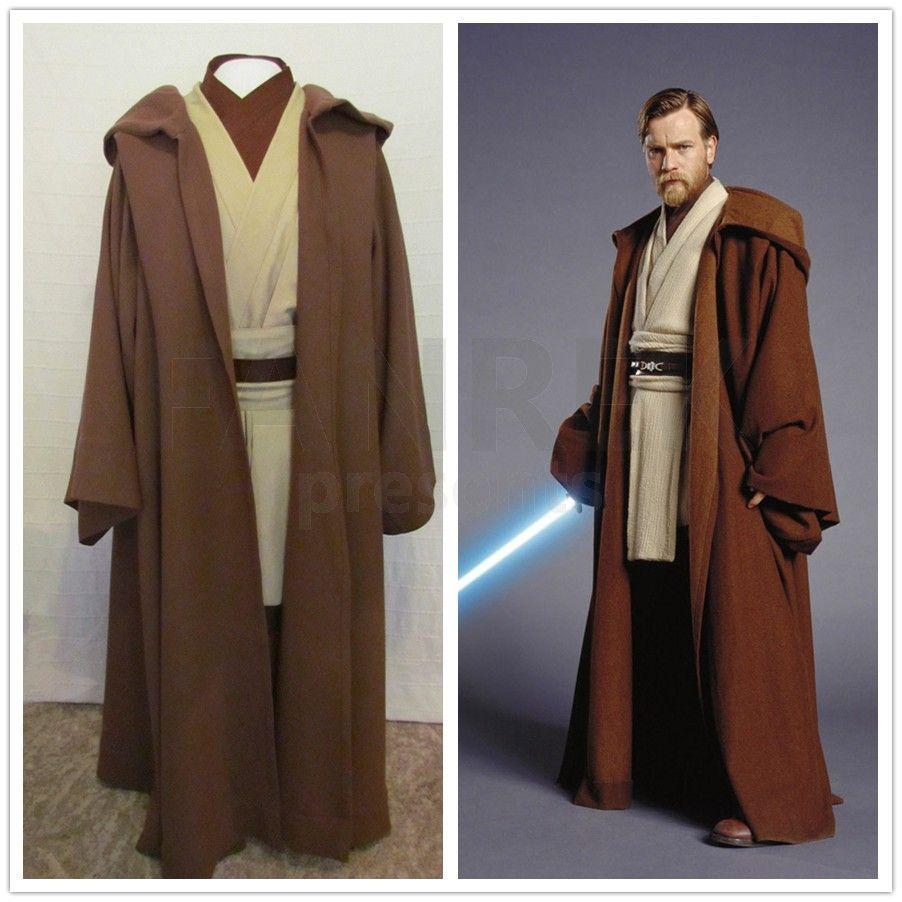 Star Wars Cosplay Kenobi Jedi Deluxe Version Costumes | Star wars ...