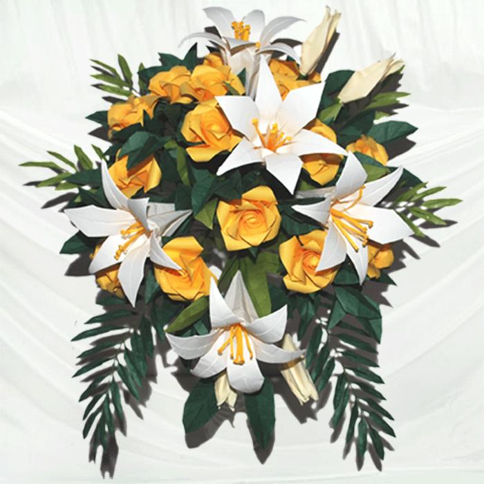 Buy origami bridal bouquet origami wedding bouquet origami 3 buy origami bridal bouquet origami wedding bouquet origami bouquet origami flowers origami rose mightylinksfo