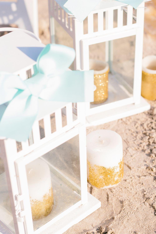 beach wedding aisle decor - sea glass | From Britt\'s Eye View ...