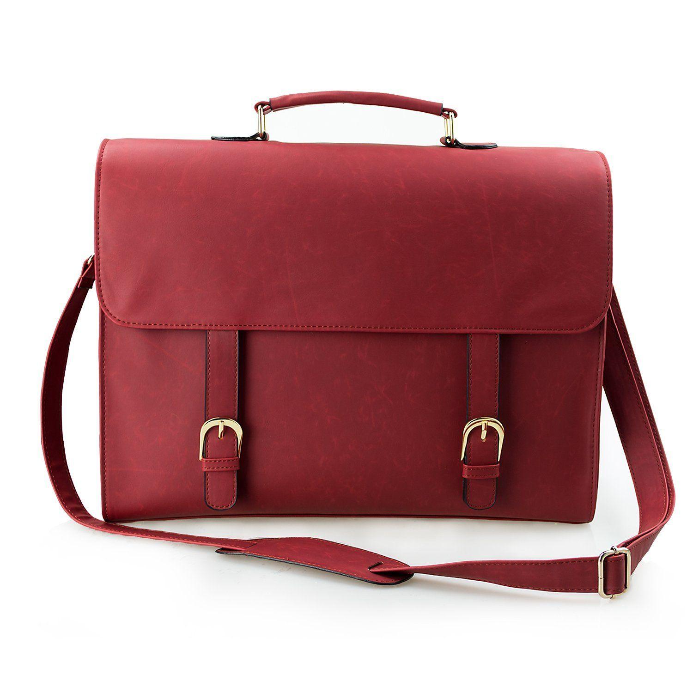 Estarer Women Faux Leather Satchel Handbag 15 6 Laptop Messenger Bag Large Briefcase For Work Co Uk Luggage