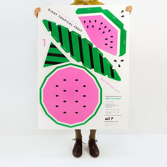 Giant paper fruit templates on Etsy   Moon Picnic + Mr Printables - loose leaf paper template