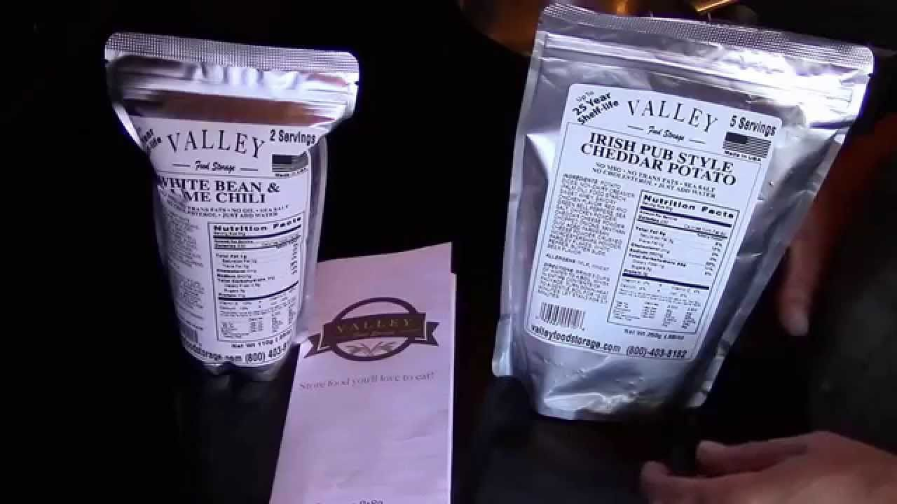 Long Term Food Storage Reviews: Valley Food Storage Chili