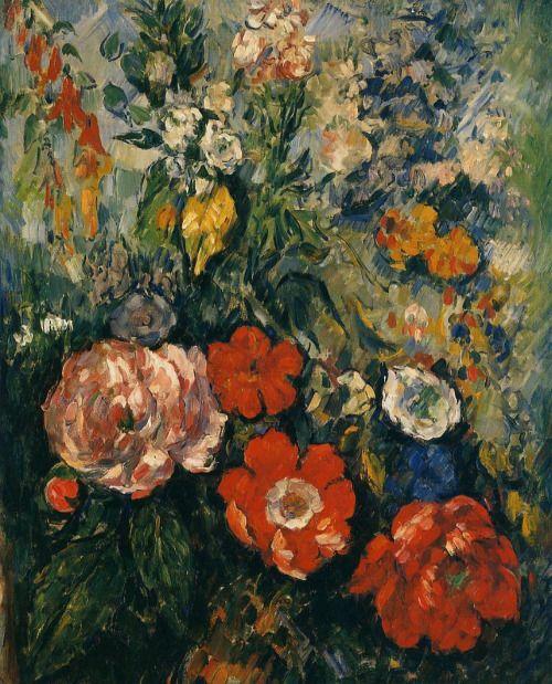 """dappledwithshadow: """" Paul Cézanne - Bouquet of Flowers, c. 1879 """""""