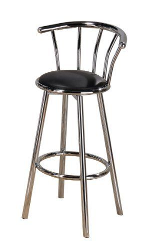 Poundex Swivel Bar Stools 24 Inch Height In Blacksilver Color Set