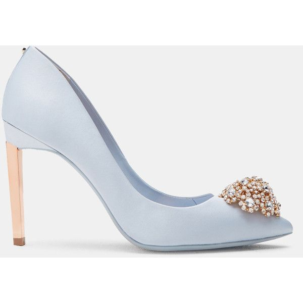 Brooch Detail Court Shoes ($180) Liked On Polyvore