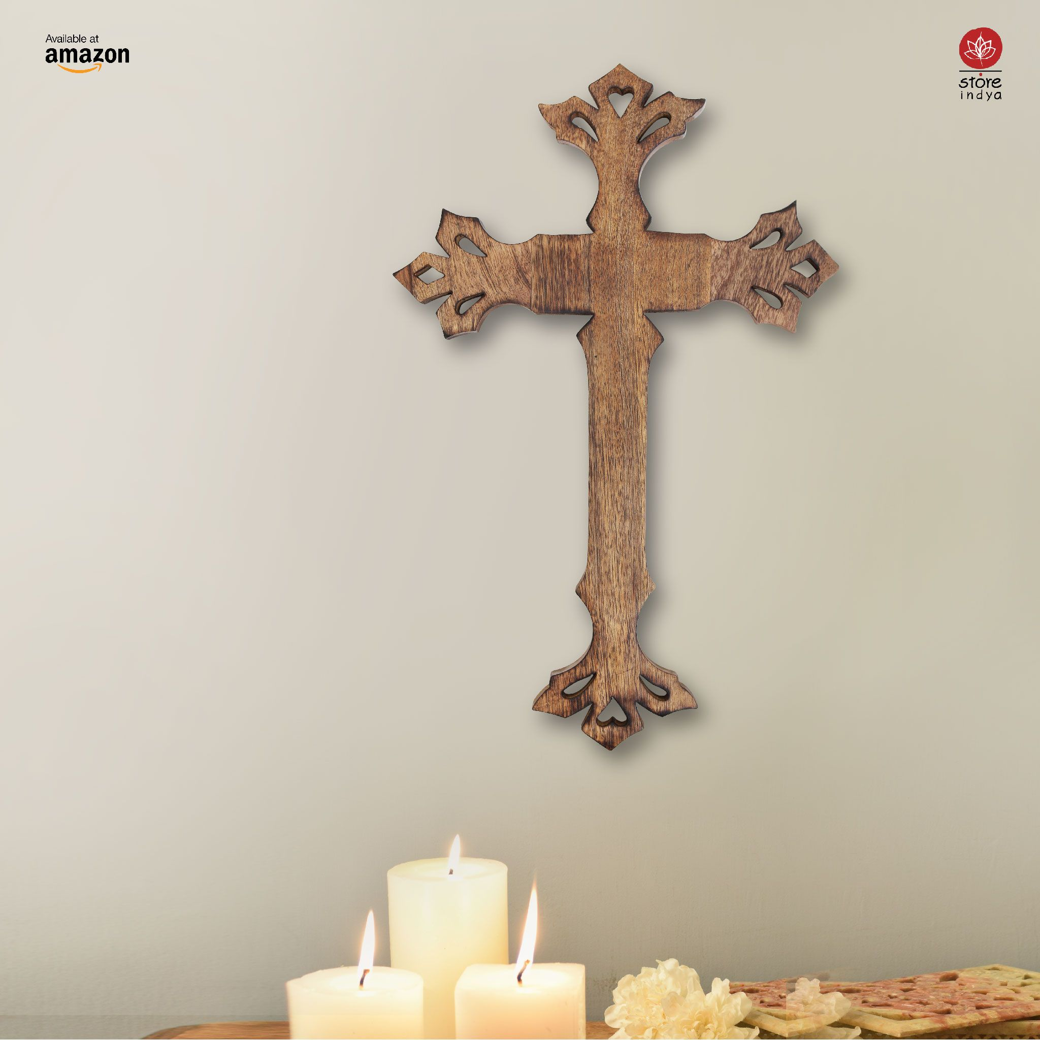 Amazon Ca Store Indya Wooden Long Wall Hanging French Cross