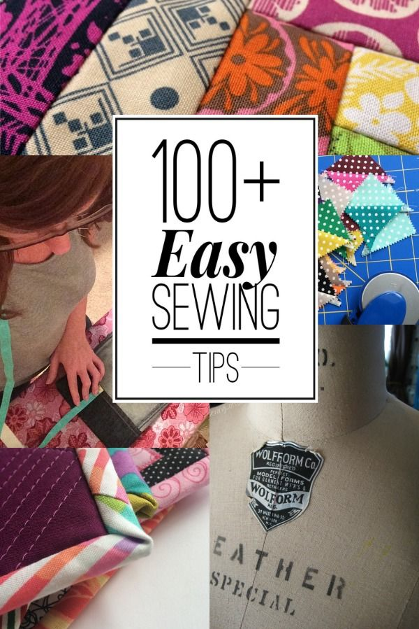 100+ Sewing Tips and counting! This list has so many easy tips to keep your sewing projects looking polished and professional. The Sewing Loft
