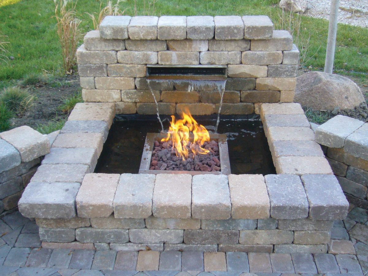 Garden fire features  Fire fountain  Garden Ideas  Pinterest  Fire