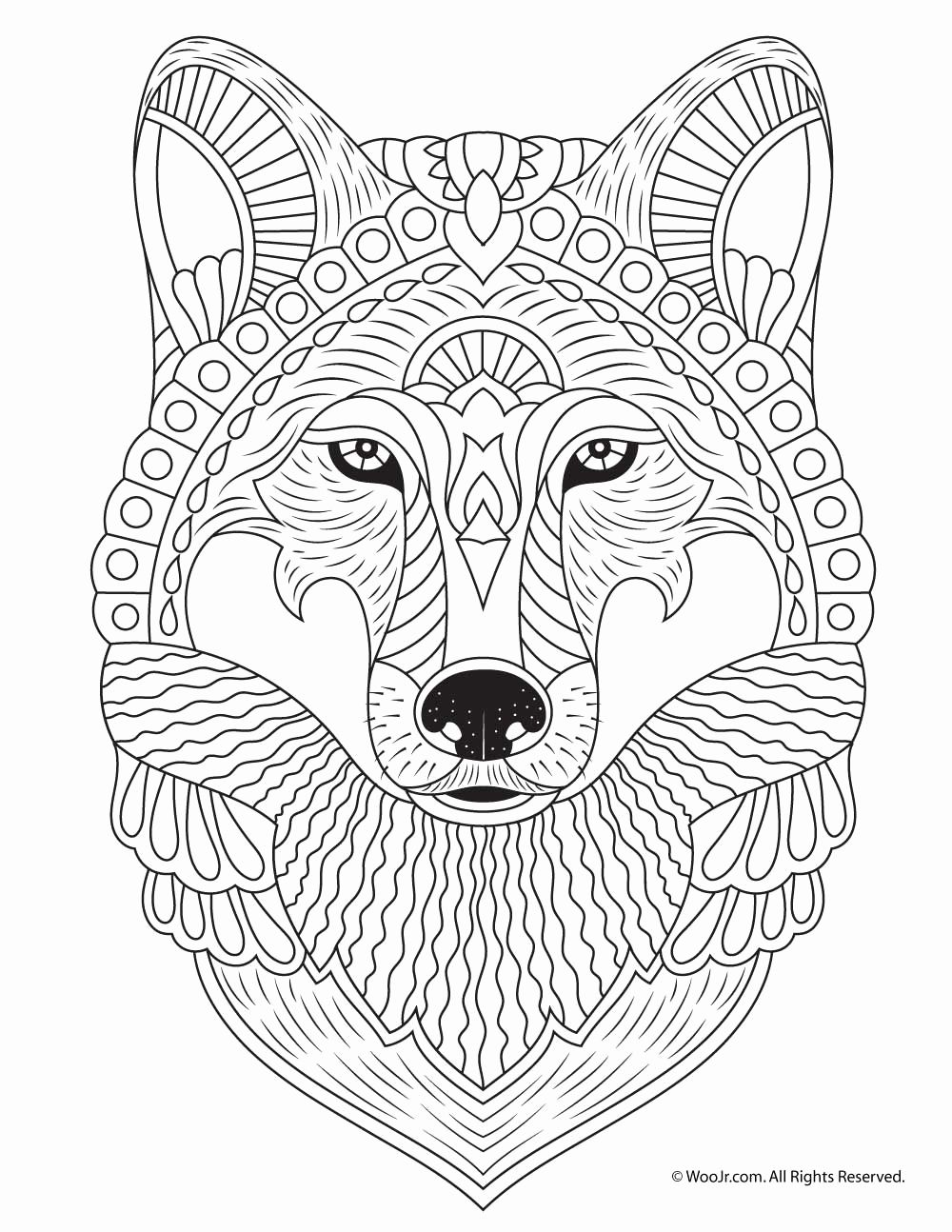 Wolf Head Coloring Pages - Reezacourbei Coloring