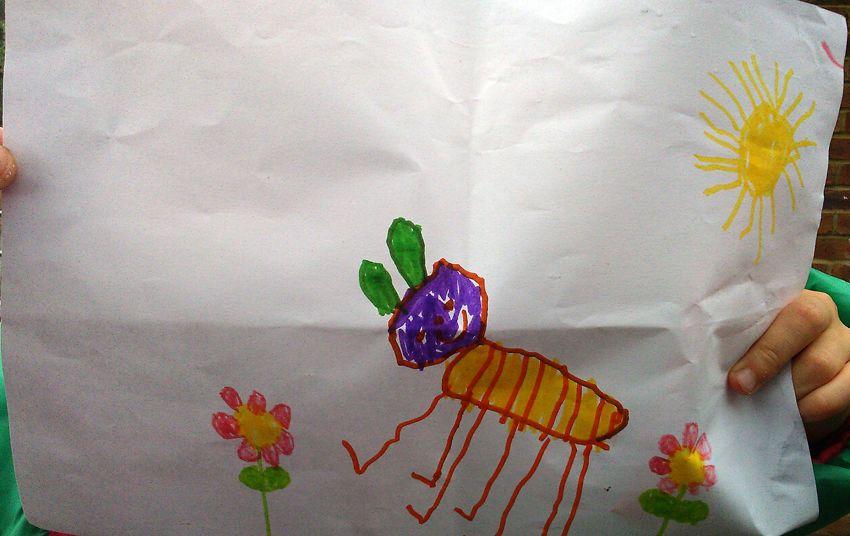 happy caterpillar, April, 4, 2014