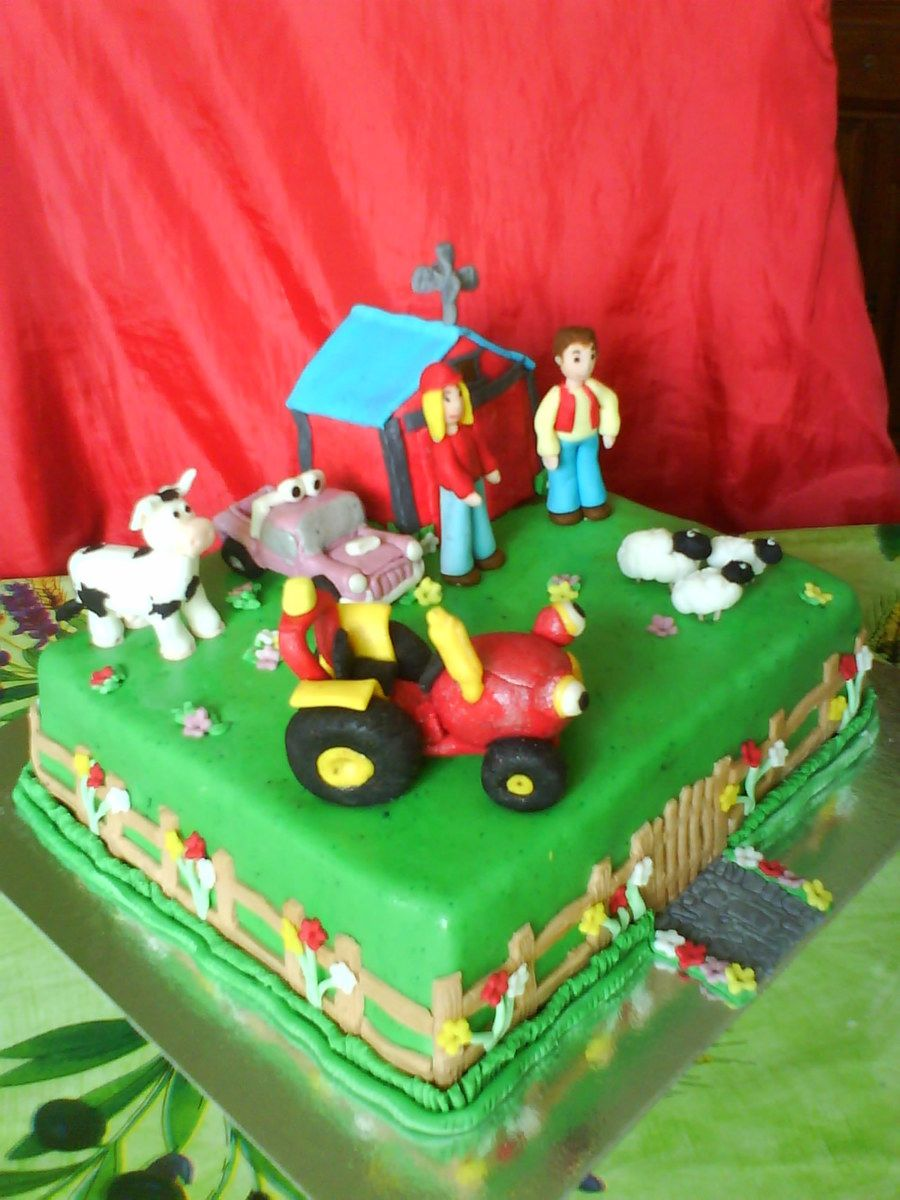 Tractor Tom on Cake Central DJEJE TORTE Pinterest Tractor