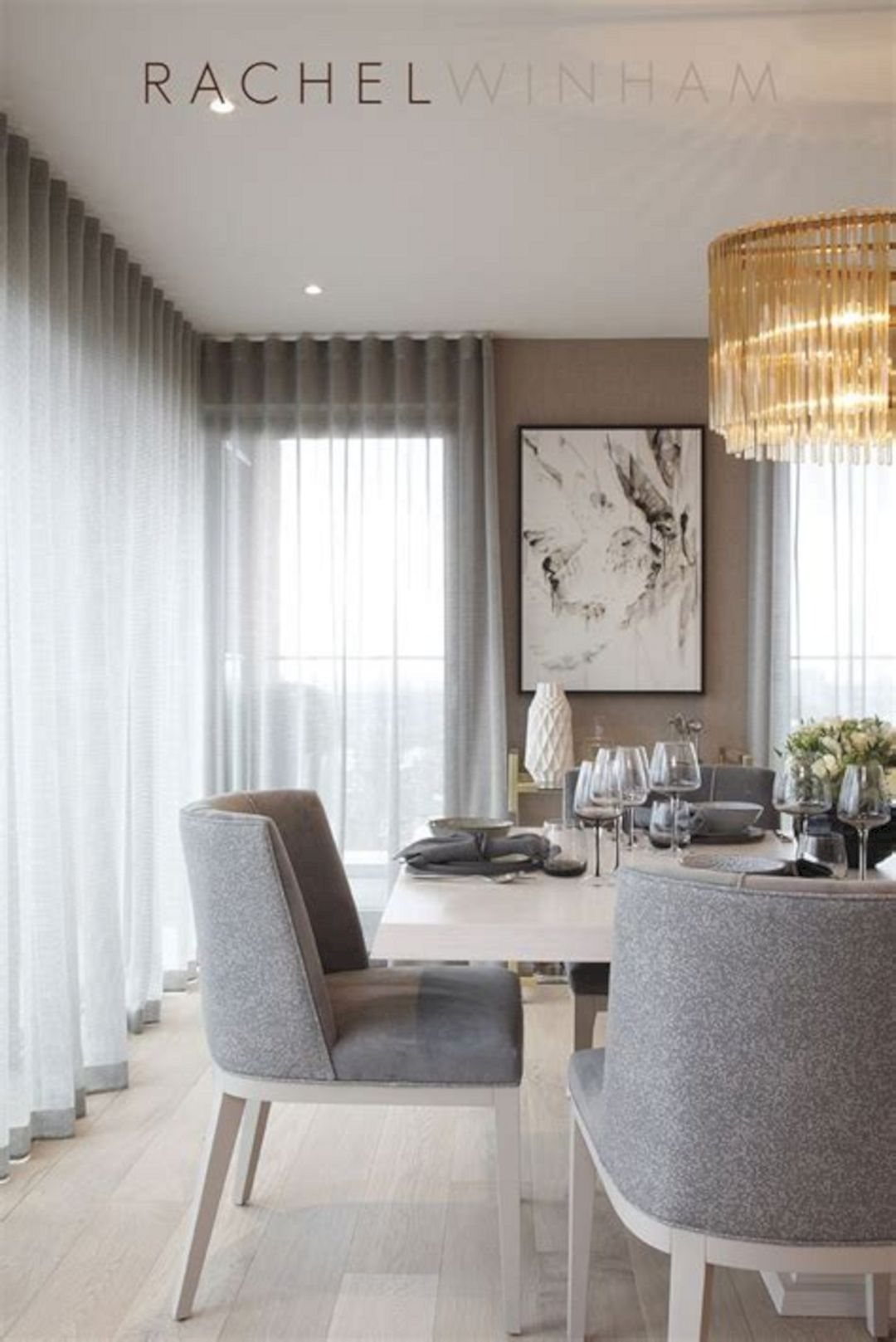 40 Beautiful Modern Curtain Design To Make Scenery Your ... on Farmhouse:-Cra1Rtrksu= Dining Room Curtains  id=99194