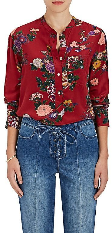 54fcdc3e76f83f Isabel Marant Women s Rusak Floral Silk Tunic Blouse