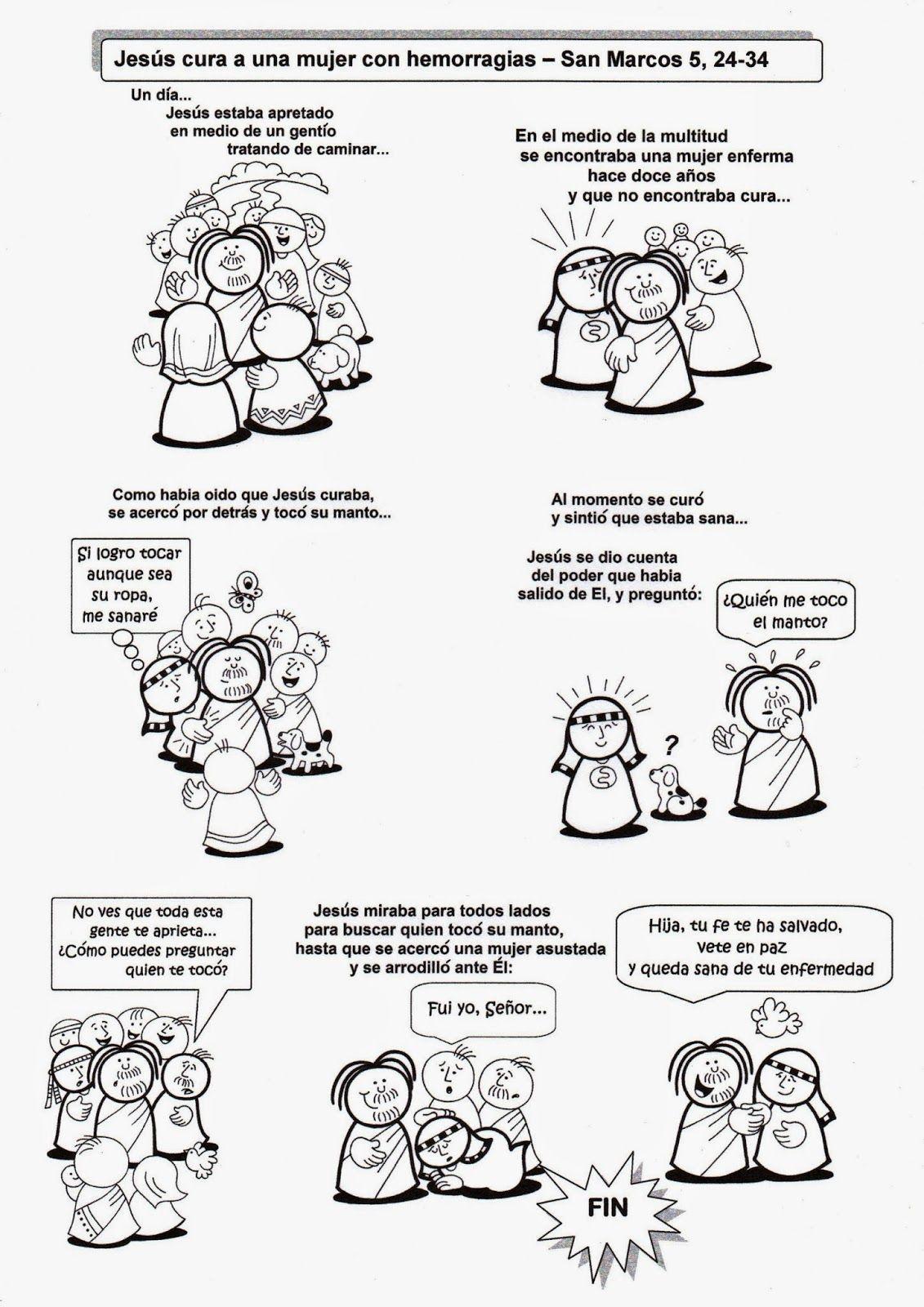 El Rincón De Las Melli Jesús Cura A Una Mujer Con Hemorragias La Hija De Jairo Milagros De Jesús Parábolas De Jesús