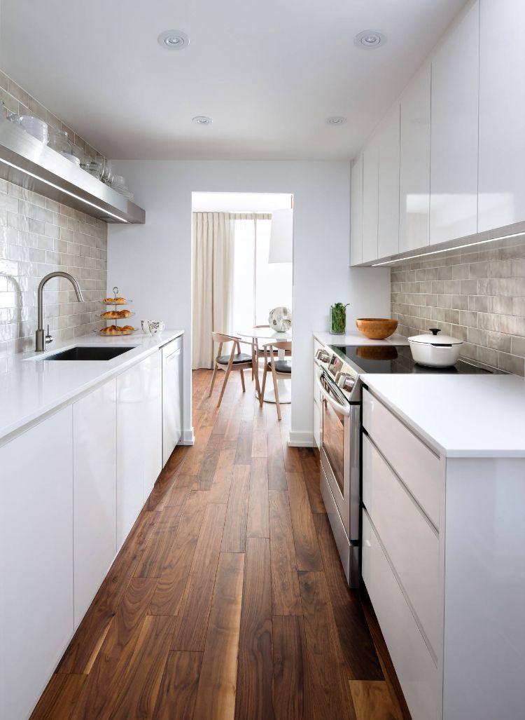 zweizeilige küche kombüse planen einrichten tipps ideen gestaltung - Küche Einrichten Ideen