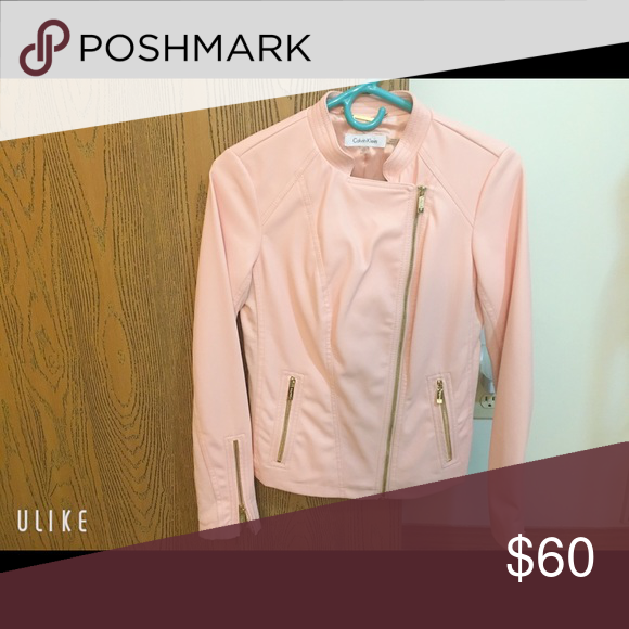 CK leather jacket/blazer pink New without tag Calvin Klein