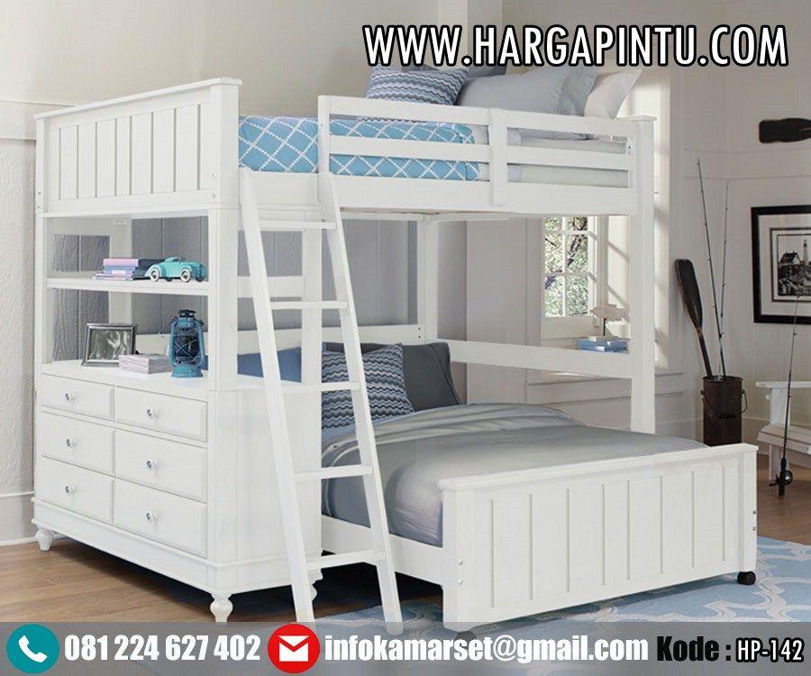 Model Tempat Tidur Tingkat Loft Bed Putih Duco Jual Tempat