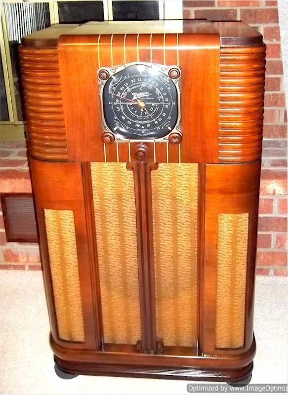 Zenith 10 s 160 console 1937 console radios vintage for Zenith sofa table