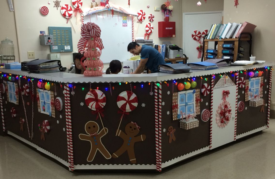Nursing Station Holiday Decorating. Our Little Gingerbread