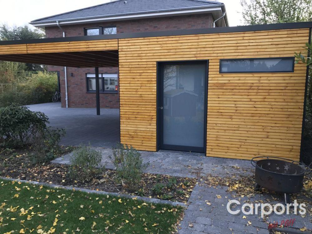 Galerie pfiffcarports Carport modern, Gartenhaus
