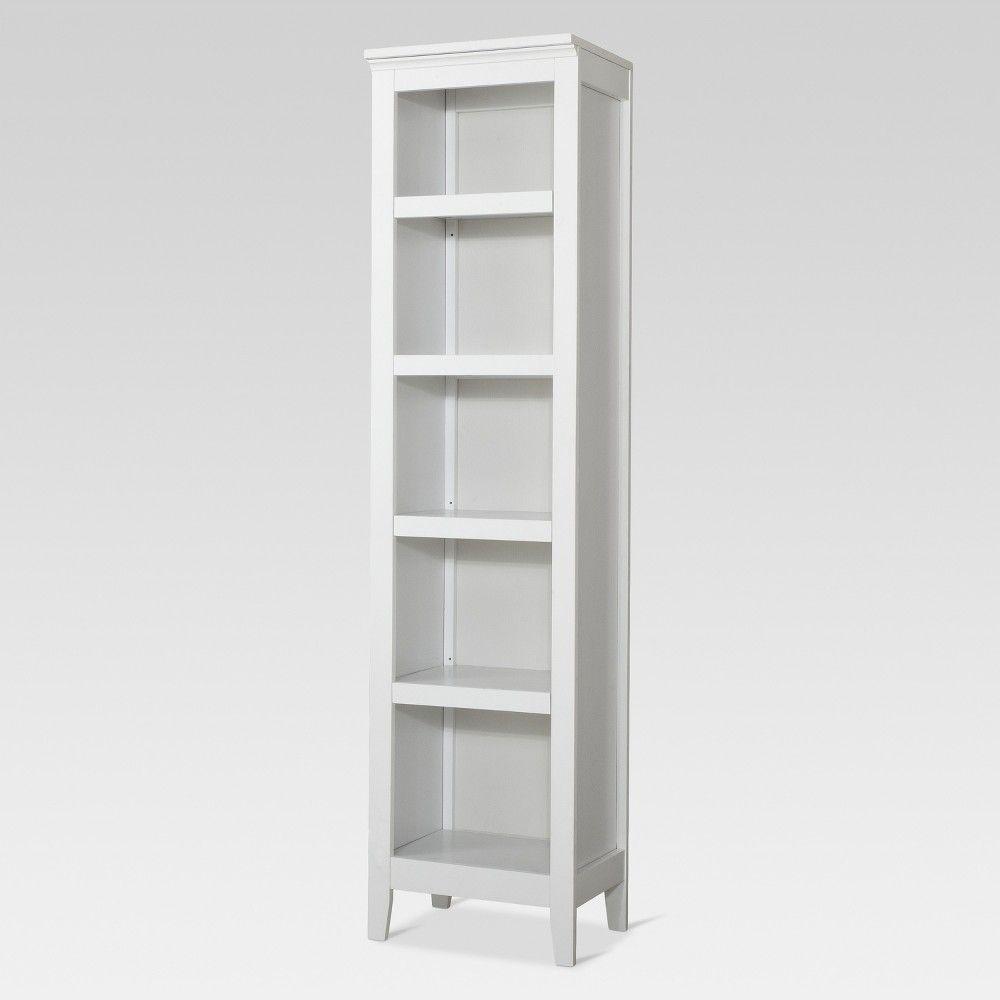 Carson 72 2 Narrow 5 Shelf Bookcase White Threshold 5 Shelf