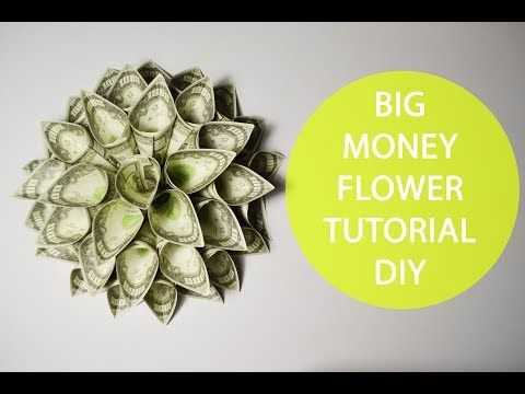 Money Origami Flower Folding Instructions Youtube Bday