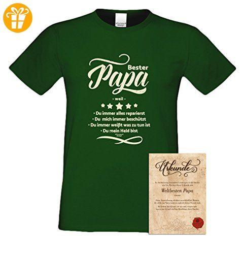 Geburtstagsgeschenk Papa Vater :-: Herren T-Shirt als Geschenkidee :-:  Bester