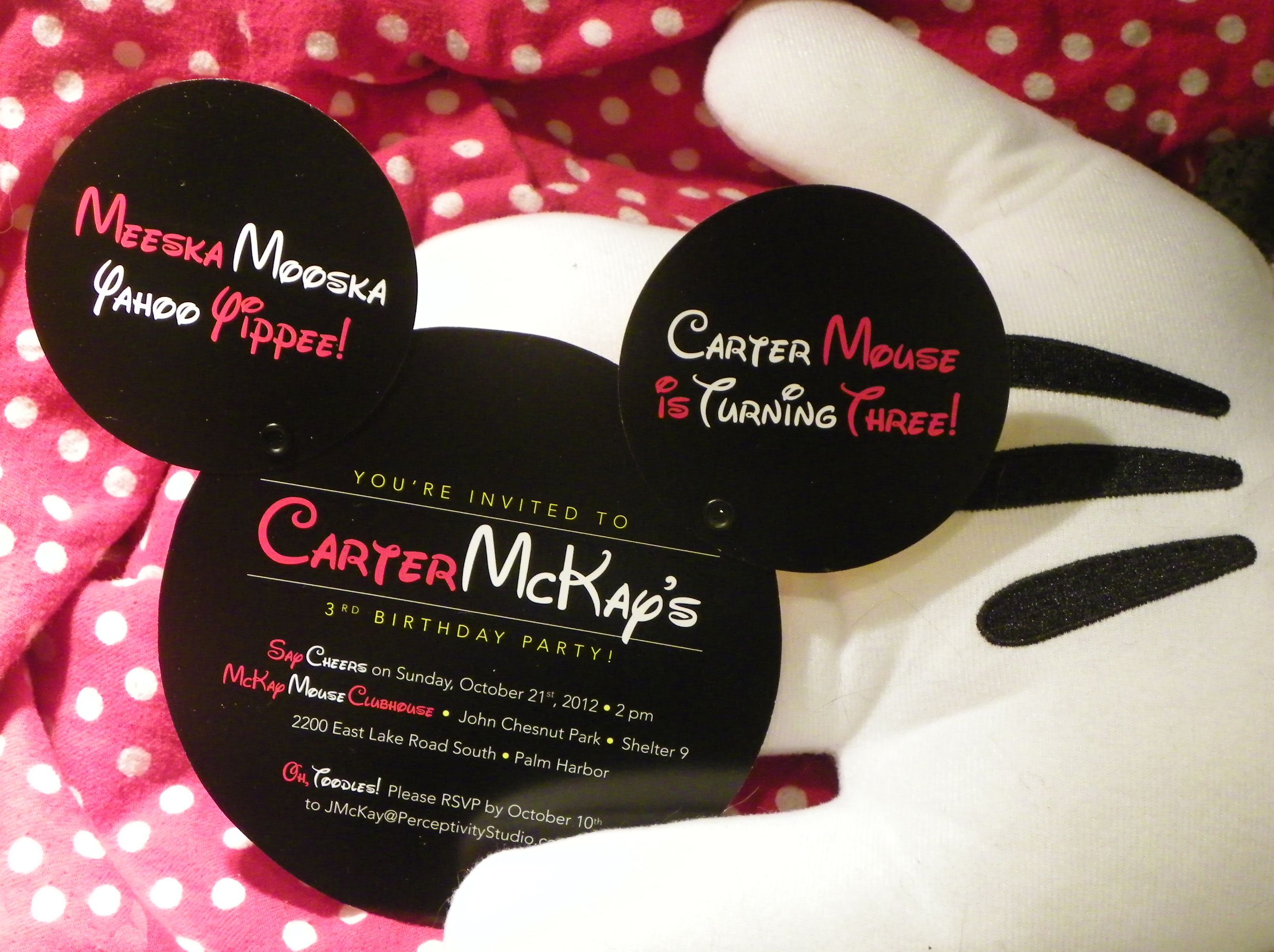 mickey mouse birthday party ideas | wouldn t fit well in an ...