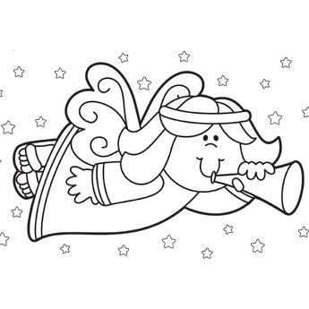 Christmas Angel Coloring Page | Bible Coloring Pages | Pinterest ...