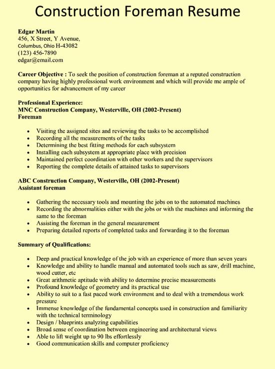 superintendent resume samples