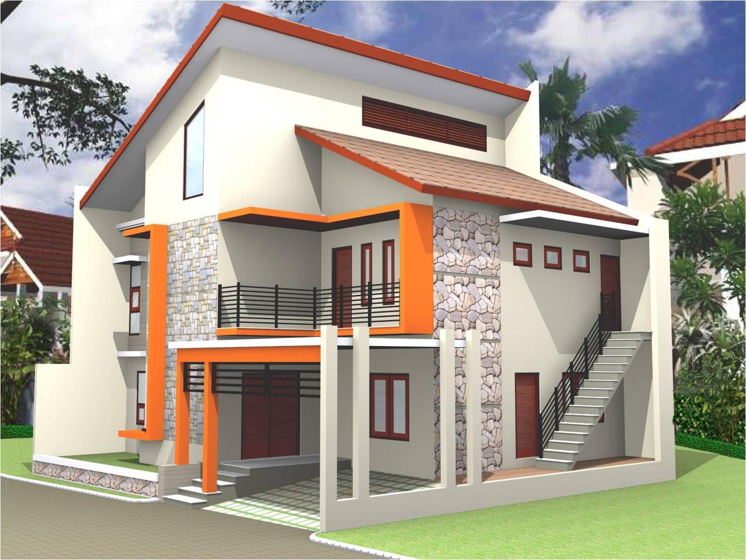 Desain Model Rumah Tingkat Dengan Cat Eksterior Warna ...