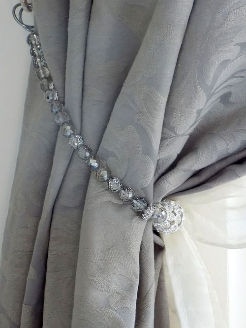 Image Result For Beaded Curtain Tie Backs Curtain Tie