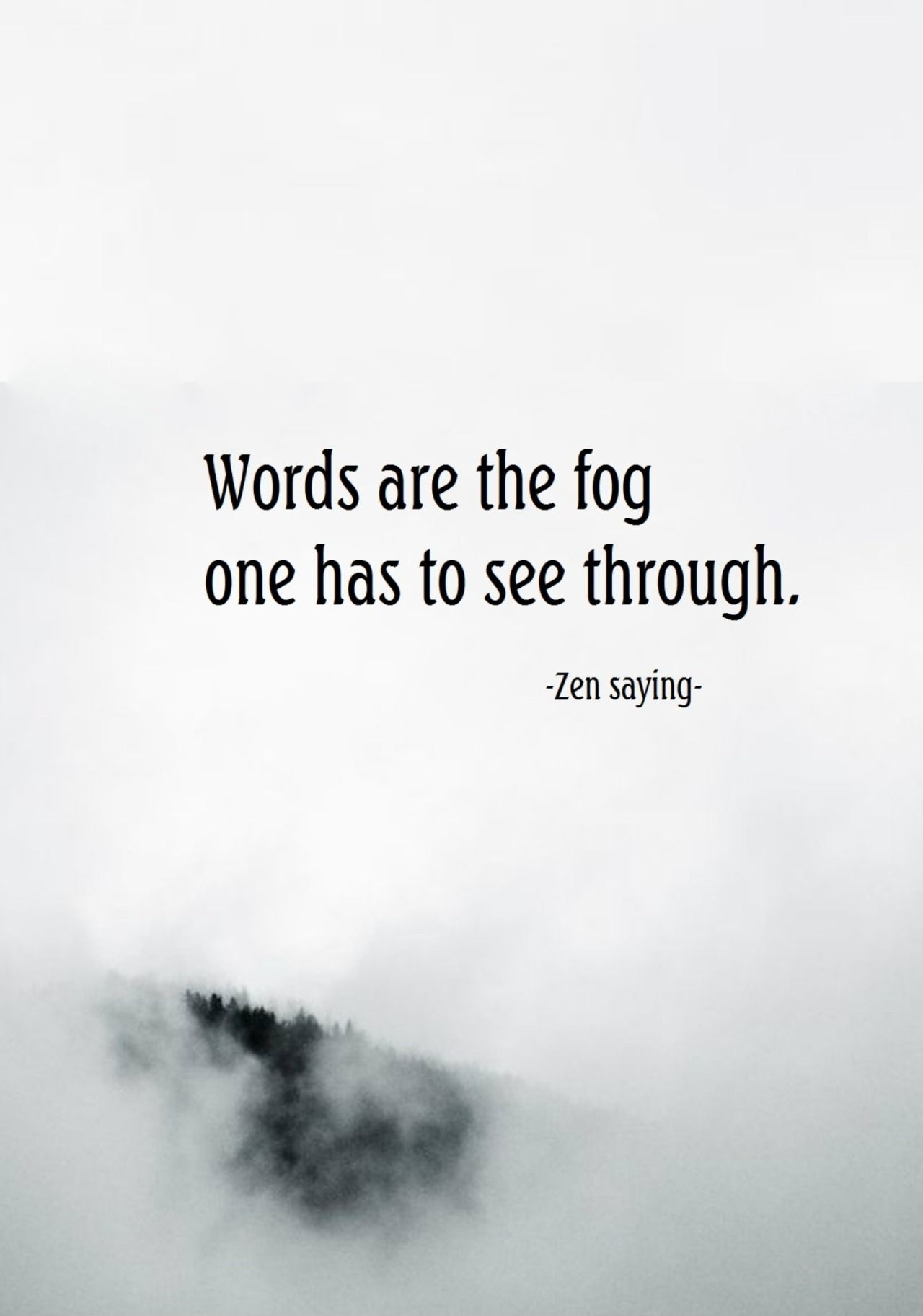 Draw Wings Words Are The Fog One Has To See Through Zen