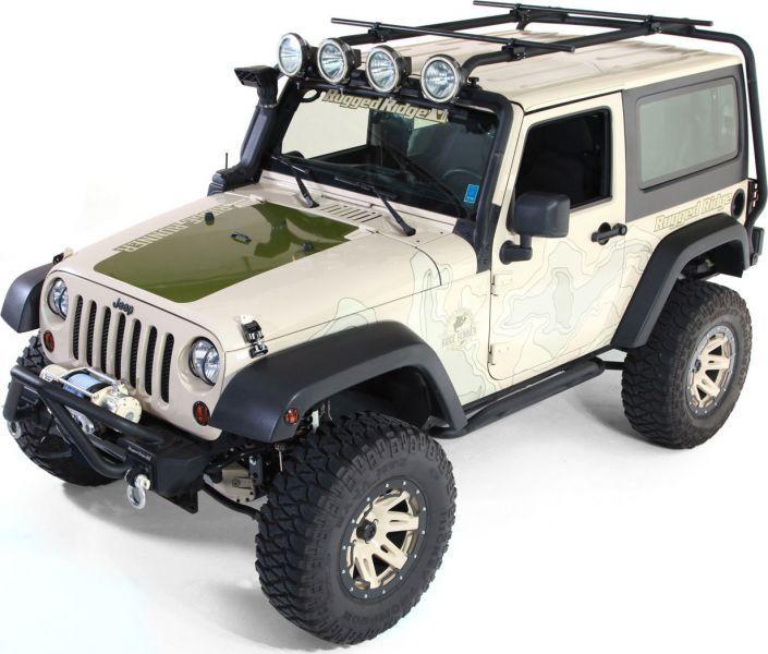 Rugged Ridge 11703 21 Sherpa Rack For 07 18 Jeep Wrangler Jk 2 Door Rugged Ridge Jeep Wrangler Jk Jeep Wrangler