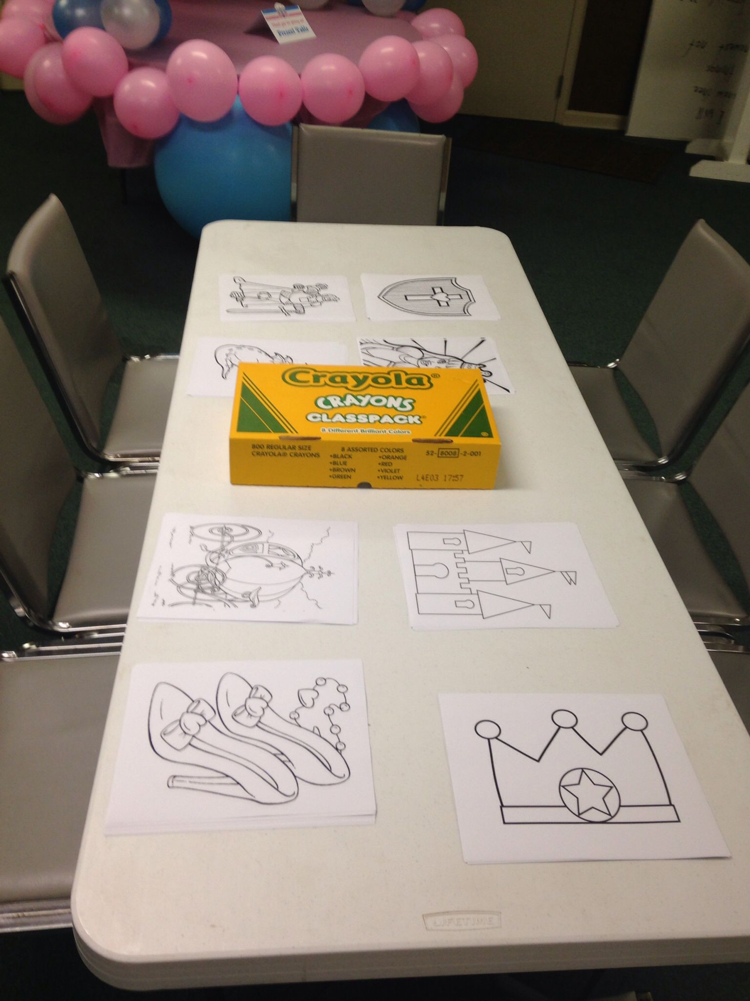 Coloring table for the big kids. Girl and boy friendly!   Annabel\'s ...