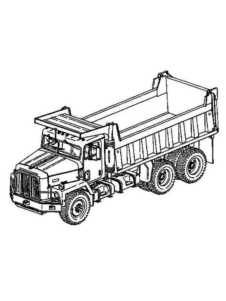 Printable Happy Dump Truck Coloring Pages Dump Truck Coloring Page To Download And Coloring Here Truck Coloring Pages Printable Coloring Pages Coloring Pages