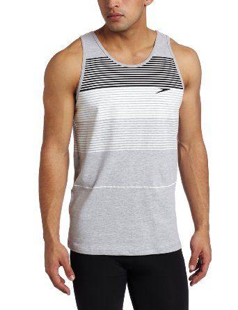 1c38db9fe4db5 Amazon.com  Speedo Men s Graduated Tank Top  Clothing