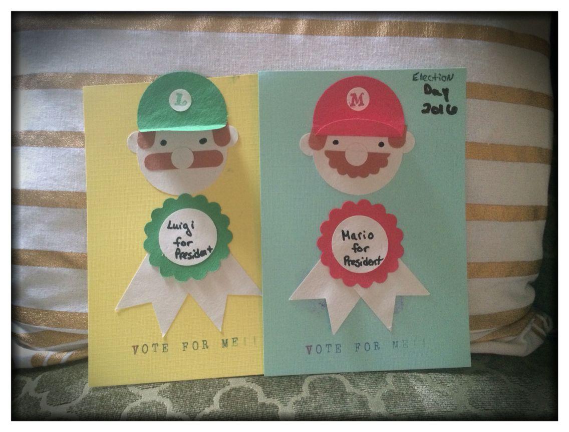 Mario and Luigi election mini-posters
