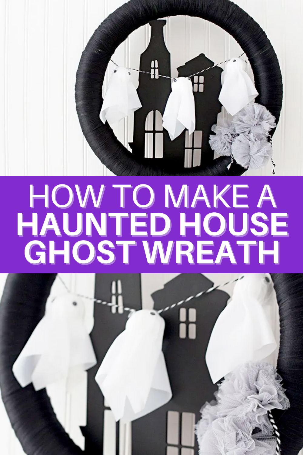 Cains Halloween Haunt 2020 Make a Haunted House Ghost Wreath in 2020 | Haunted house