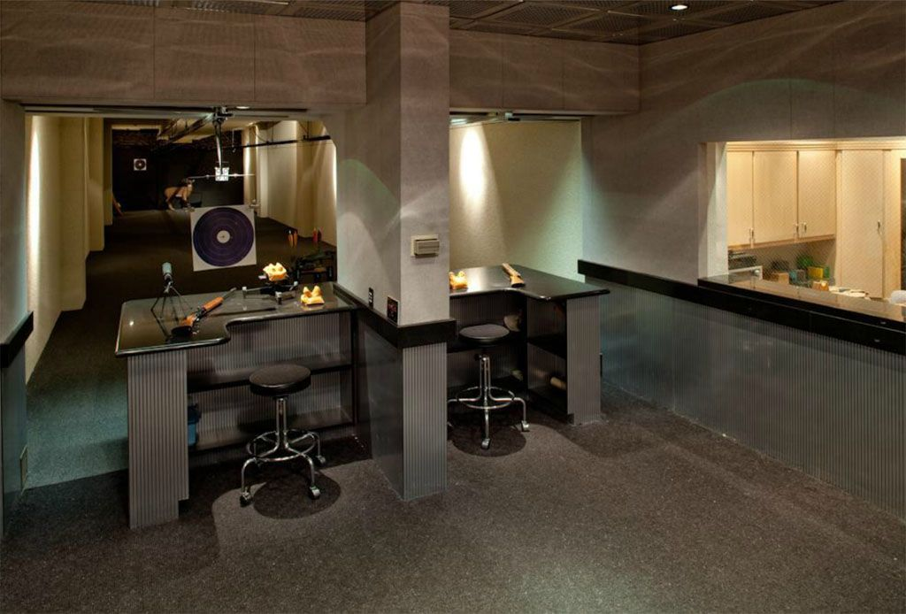 The one armed bandit s private practice range gun rooms for Las vegas homes with basements
